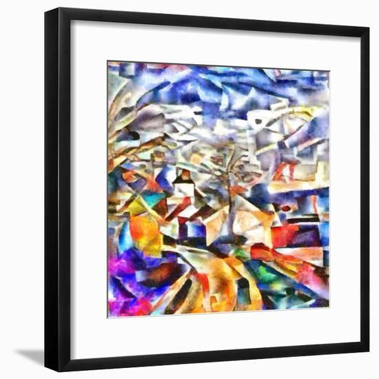 colorful path,2017-Alex Caminker-Framed Giclee Print