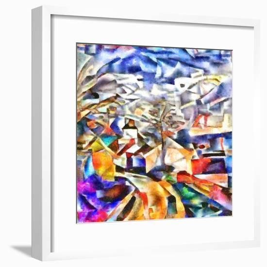 colorful path,2017-Alex Caminker-Framed Giclee Print
