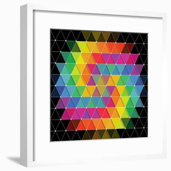 Colorful Pattern-Maksim Krasnov-Framed Art Print