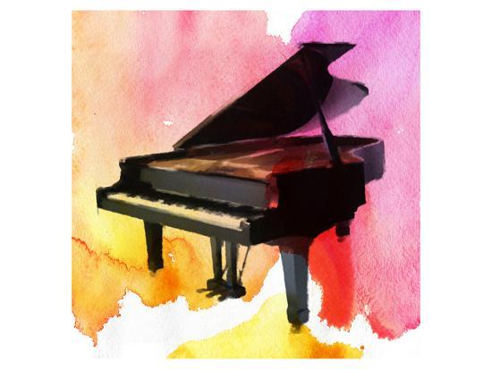 Colorful Piano-Irena Orlov-Art Print