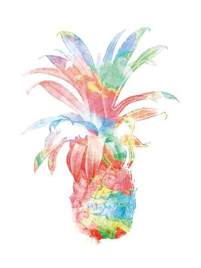 Colorful Pineapple Clean-Jace Grey-Art Print