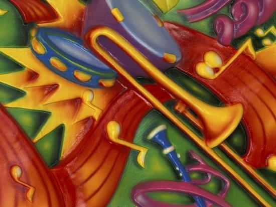 Colorful Poster Along the Riverwalk, New Orleans, Louisiana, USA-Adam Jones-Photographic Print
