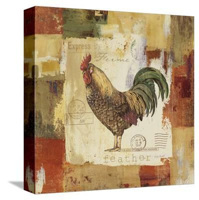 Colorful Rooster II-Lisa Audit-Stretched Canvas Print