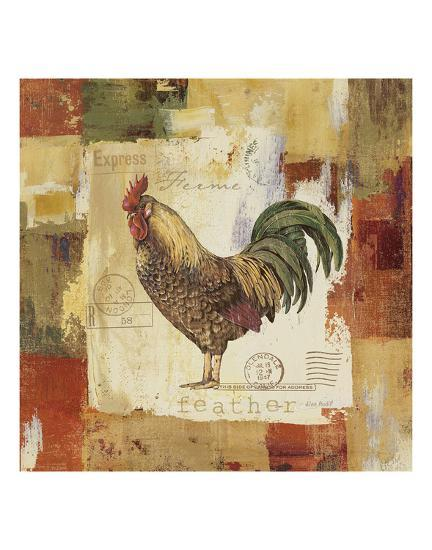 Colorful Rooster II-Lisa Audit-Art Print