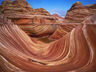 Colorful Sandstone Swirls in the Wave Formation, Paria Canyon, Utah, Usa-Dennis Flaherty-Photographic Print