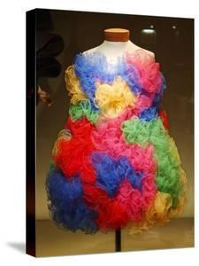 Colorful Silk Tulle Dress