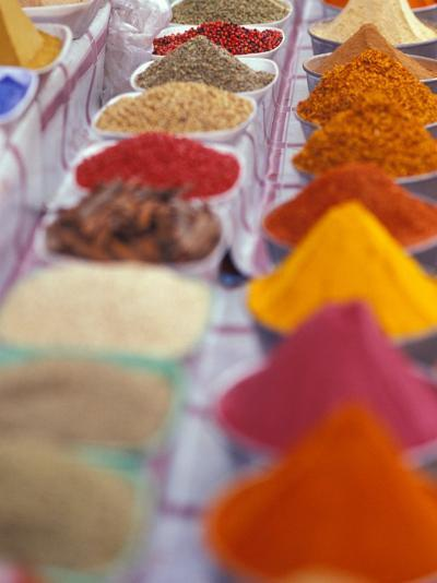 Colorful Spices in the Aswan Market, Egypt-Stuart Westmoreland-Photographic Print