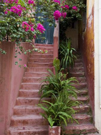 Colorful Stairways, Chania, Crete, Greece-Darrell Gulin-Photographic Print