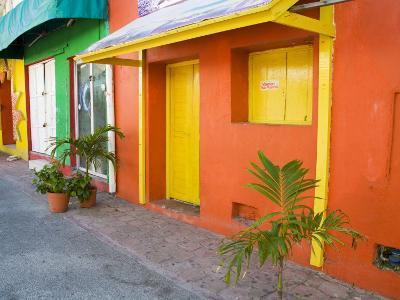 Colorful Street Front, Isla Mujeres, Quintana Roo, Mexico-Julie Eggers-Photographic Print