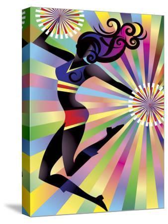 Colorful Sunburst on Cheerleader