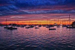 Colorful Sunset Newport Rhode Island