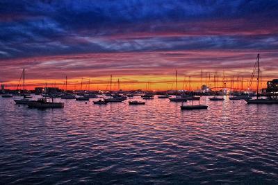 Colorful Sunset Newport Rhode Island--Photo