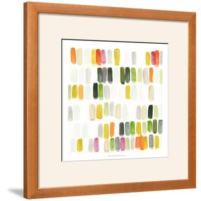 Colorful Swatches I-Julie Silver-Framed Giclee Print