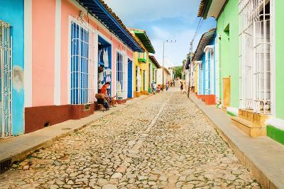 Colorful Traditional Houses in the Colonial Town of Trinidad in Cuba-Anna Jedynak-Photographic Print