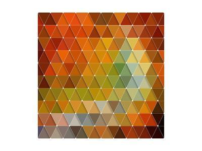 Colorful Triangles Background-Maksim Krasnov-Art Print