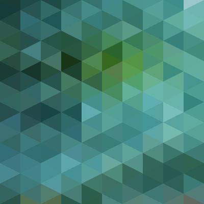 Colorful Triangles Background-Max Krasnov-Art Print