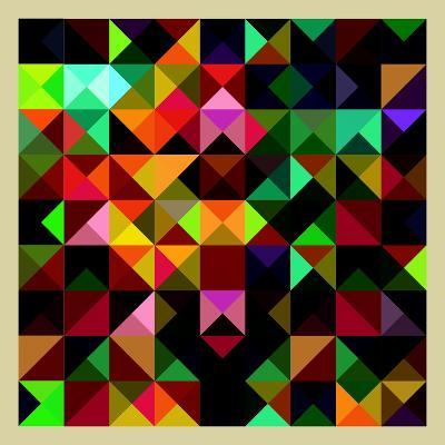 Colorful Triangles Modern Abstract Mosaic Design Pattern-Melindula-Art Print