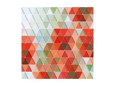 Colorful Triangles Pattern-Maksim Krasnov-Art Print