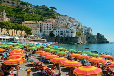 Colorful View of Almafi Coast Italy