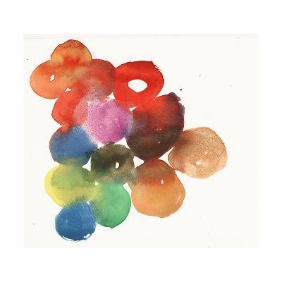 Colorful Watercolor Circles--Art Print