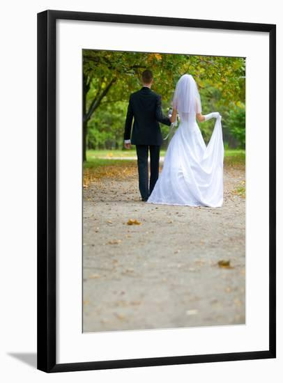 Colorful Wedding Shot of Bride and Groom-PH.OK-Framed Photographic Print