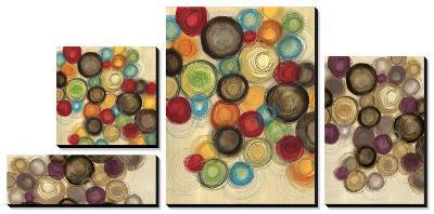 Colorful Whimsy - Circles-Jeni Lee-Canvas Art Set