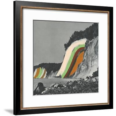 Coloring Cliffs-Danielle Kroll-Framed Giclee Print
