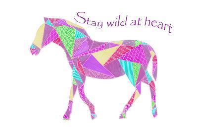 Colorpoly Horsia Stay Wild-Pam Varacek-Art Print