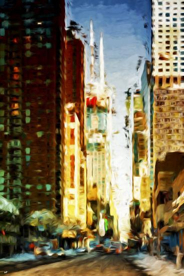 Colors City - In the Style of Oil Painting-Philippe Hugonnard-Giclee Print