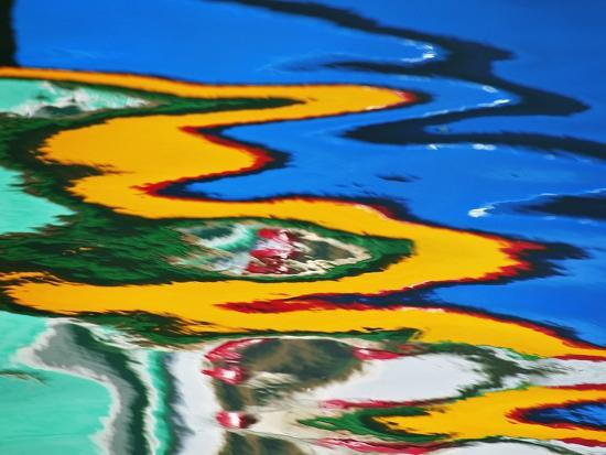 Colors Reflected in Ripples in Canal-William Manning-Photographic Print