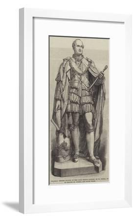 Colossal Bronze Statue of the Late Prince Consort--Framed Giclee Print