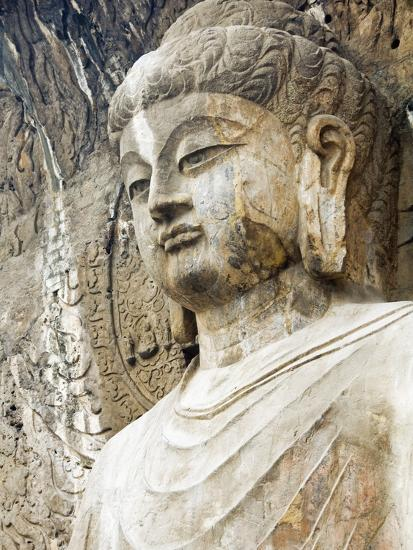 Colossal Buddha Sculpture at Fengxian Temple of Longmen Grottoes-Xiaoyang Liu-Photographic Print