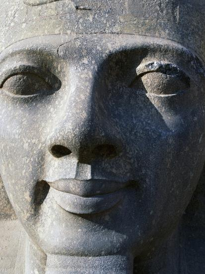 Colossal Head of Ramesses II, Entrance to Temple of Amun--Photographic Print