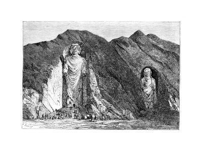 Colossal Idols, Upper Bamlan Valley, Afghanistan, 1895-Charles Barbant-Giclee Print