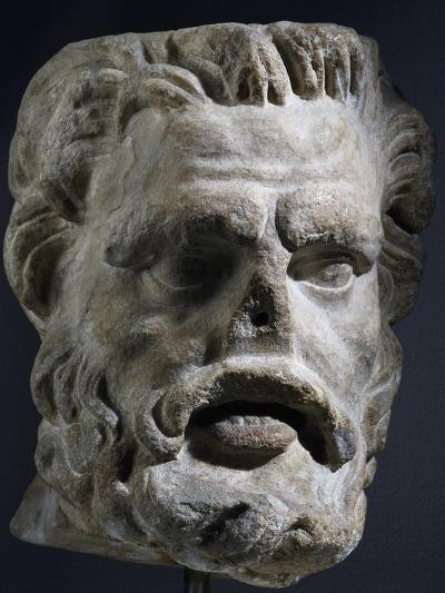 Colossal Marble Head of Satyr, Artifact Uncovered in Miletus, Turkey--Giclee Print