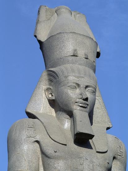 Colossal Statue of Ramses II, Cairo--Giclee Print