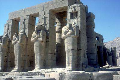 Colossal Statues of Rameses Ii, the Ramesseum, Temple of Rameses Ii, Luxor, Egypt, C1300 Bc-CM Dixon-Photographic Print