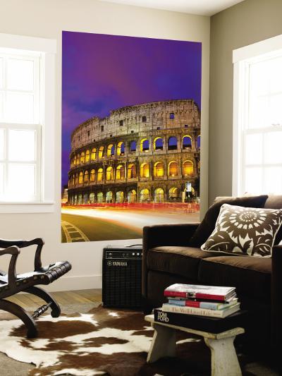Colosseum and Traffic on Via Del Fori Imperiali-Richard l'Anson-Wall Mural