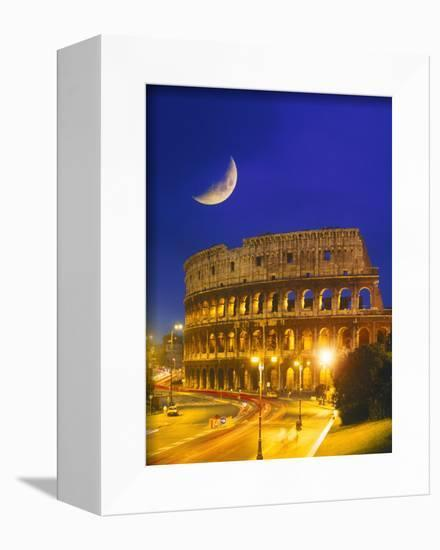 Colosseum at Night, Rome, Italy-Terry Why-Framed Stretched Canvas Print