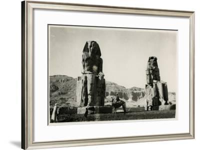 Colossi of Memnon, Thebes, Egypt--Framed Photographic Print