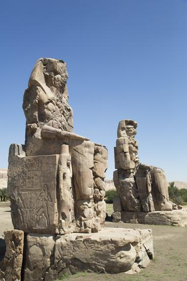 Colossi of Memnon, West Bank, Thebes, Egypt, North Africa, Africa-Richard Maschmeyer-Photographic Print