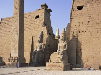 Colossi of Rameses II, Luxor Temple, Luxor, Unesco World Heritage Site, Thebes, Egypt-Peter Scholey-Photographic Print