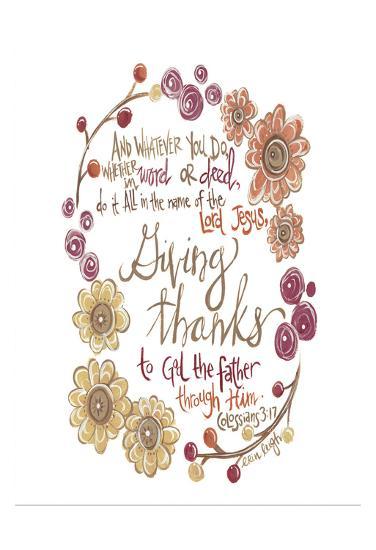 Colossians 3-17-Erin Butson-Art Print