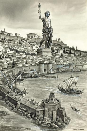 Colossus of Rhodes-Peter Jackson-Giclee Print