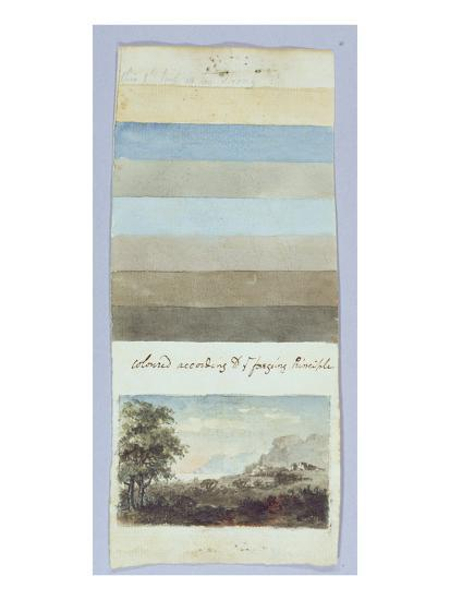 Colour Chart, from 'Hints to Form the Taste and Regulate Ye Judgement in Sketching Landscape'-Rev. William Gilpin-Giclee Print