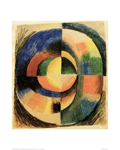 Colour Circle II (large)-Auguste Macke-Giclee Print