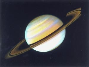 Colour-Enhanced View of Saturn, 1980