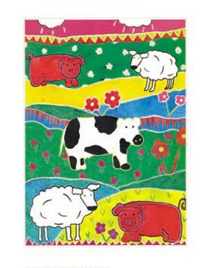 Colour Graze-Lisa V^ Keaney-Art Print