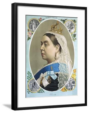 Colour Portrait of Queen Victoria Produced for Her Golden Jubilee, 1887--Framed Giclee Print