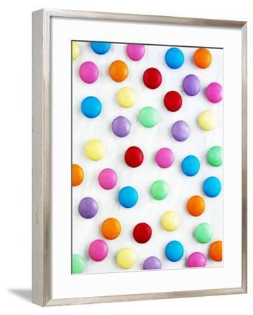 Coloured Chocolate Beans--Framed Photographic Print
